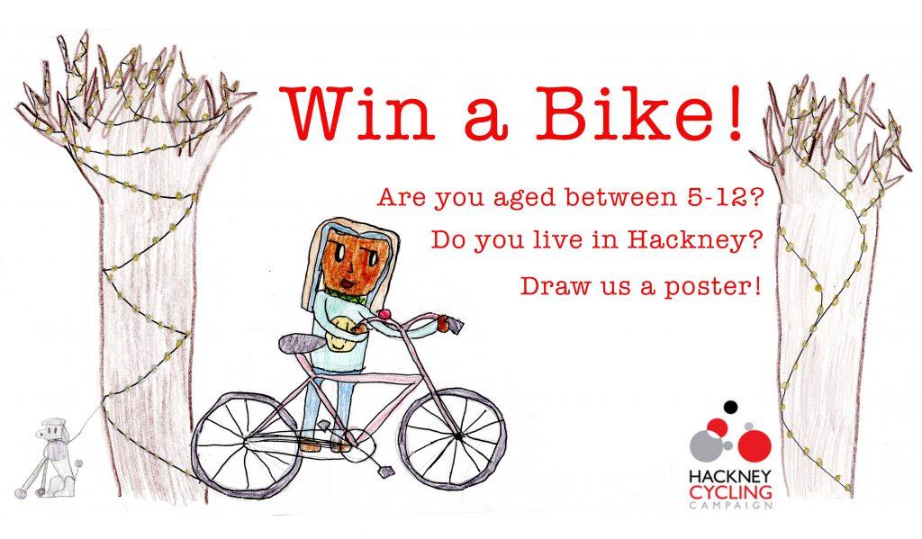 Win a bike poster